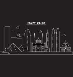 cairo silhouette skyline egypt - cairo vector image