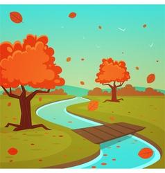 Cartoon Autumn Landscape vector image