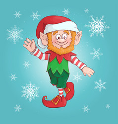 cartoon elf of elf character vector image
