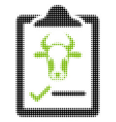 Cattle contract halftone icon vector