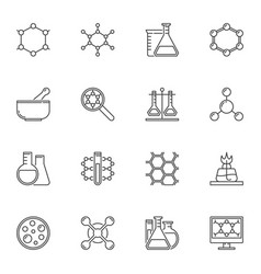 chemistry concept icons or elements in vector image