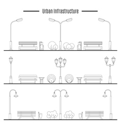 City and outdoor element vector image