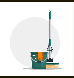 cleaning service colorful set house cleaning vector image