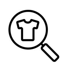 Clothes search linear icon vector