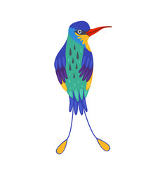 Colorful tropical bird beautiful birdie with vector