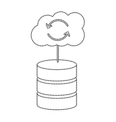 Database with cloud storage data center icon image vector