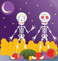 Day of the Dead in the nigth vector