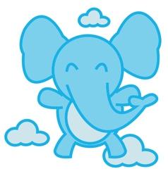 Elephant Flying vector image