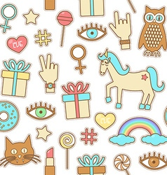 Fashion patches vector
