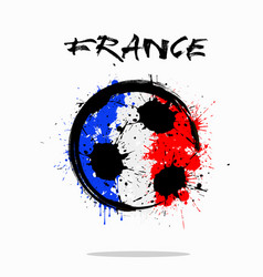 Flag of france as an abstract soccer ball vector