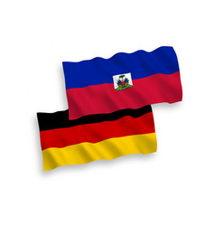 flags of republic of haiti and germany on a white vector image