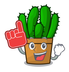 Foam finger the beautiful spurge cactus plant vector