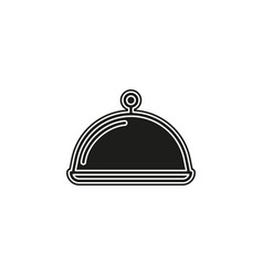 food platter serving sign icon - restaurant sign vector image