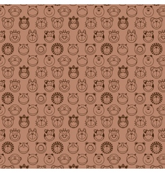 funny animals seamless pattern vector image
