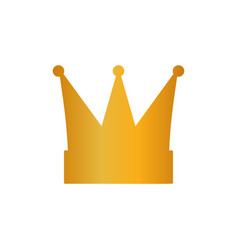 gold crown isolated on white background vector image