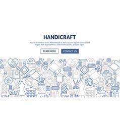 Handicraft banner design vector