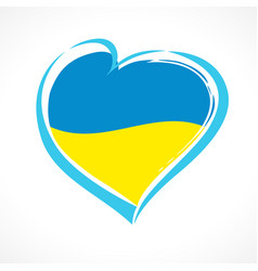 Heart ukrainian sign vector