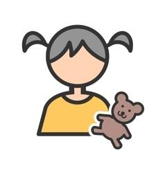 Holding Teddy Bear vector