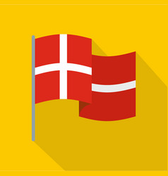holland flag icon flat style vector image