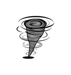 hurricane in fast motion cartoon style whirlwind vector image