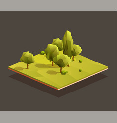 Isometric small woods area vector