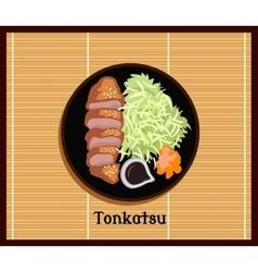 Japanese Food Tonkatsu Design Flat vector image vector image