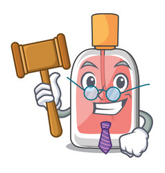 Judge perfume bottle isolated in the mascot vector