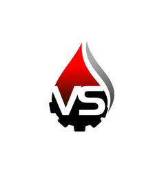 letter vs oil gear vector image