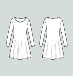 long-sleeved dress vector image