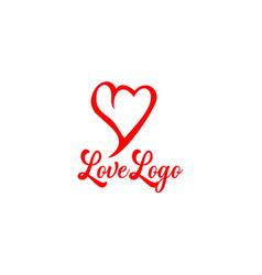 love icon symbol logo design template vector image