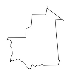 map mauritania - outline vector image