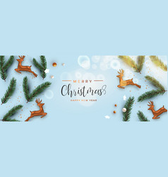 merry christmas 3d holiday ornament top view card vector image
