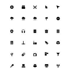 Mini Icons 4 vector image