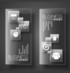 Modern business vertical banners vector