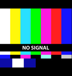 no tv signal vector image