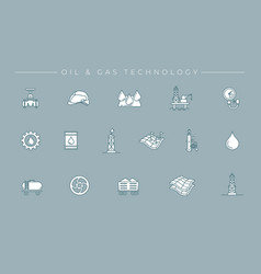oil and gas technology concept line style vector image