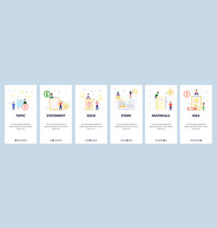 open book todo list office materials mobile app vector image