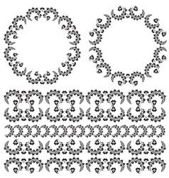 Oriental border and ornament three vector
