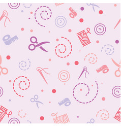 pattern sewing color vector image
