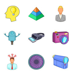 physical phenomenon icons set cartoon style vector image