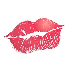 Print lips vector