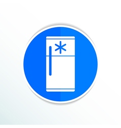 Refrigerator icon cold kitchen object furniture vector