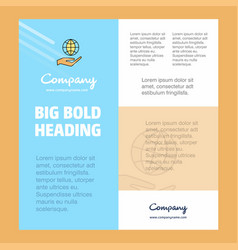 Safe world business company poster template with vector