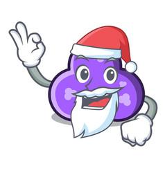 Santa trefoil mascot cartoon style vector