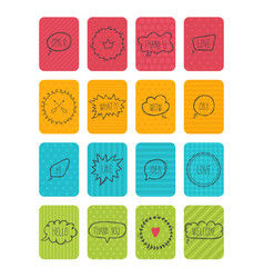 Set of banners cute cards with speech bubbles vector
