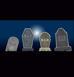 Set of halloween tombs vector