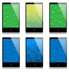Set touchscreen smartphones vector