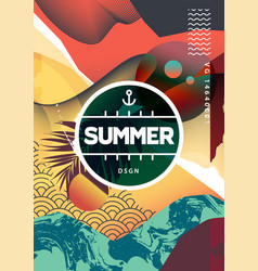 summer abstract background with mixed textures vector image