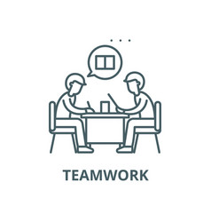 teamwork line icon linear concept outline vector image