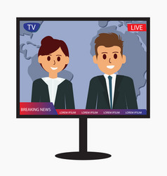 television breaking news design icon vector image
